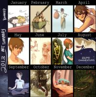 2013 art summary by l3onnie
