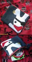 Pirate White Rabbit Mini Pouch by shiroiyukiko