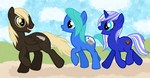 Orbit, Citayl and Nayrih as MLP Characters by PancakeShiners