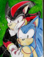 Sonic and Shadow Music by Sparky2hot4ya