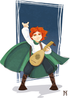 Kvothe - Lute Hero by melarune