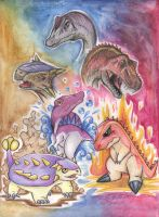 Alpha gang dinos by shazy
