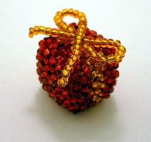 Red Present, Orange Ribbon by pinkythepink