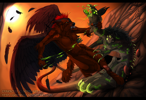 Devil's cry - Commission by Grypwolf