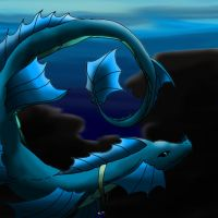 Lazuli the sea serpent by PeaceArt79