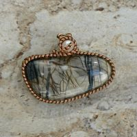 Moonlit Forest Pendant by magpie-poet