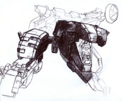 Metal Gear Rex Sketch by SolidAlexei