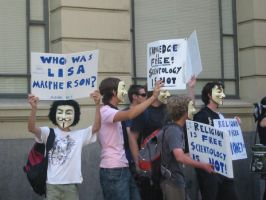 Anon Protest Scientology 2 by sibbo-the-cat