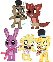 FIVE NIGHTS AT HAPPY'S by gumskull