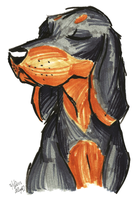 Brush Breeds-Black and Tan Coonhound by Stray-Sketches