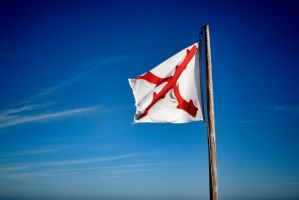 Flag of New Spain flying over Fort Matanzas by TomFawls
