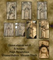 Stone statues 2 by Wicasa-stock