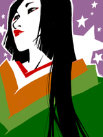 Heian Woman Tegaki by QueenOfTheCute