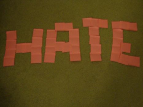 Sticky notes: Hate by WeAteTheCrayons