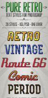 Pure Retro - Text Styles by ivelt