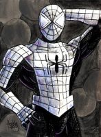 Sketchcard MvsC Armored Spiderman by fedde