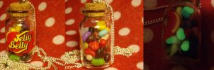 Polymer Clay Jelly Belly Necklace by ChroniclesOfKate