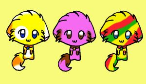 Candy Cats Adoptables! by Dracosia