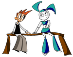 Brad and XJ-9 for Reuration by Yahmos