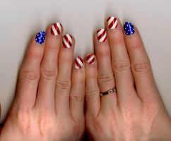 Independence Day Nail Design (2) by LovedPurpleAngelWife