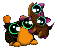 2 Free adoptable funny cat kittens by KingZoidLord