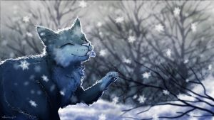 Catching snow by watersee