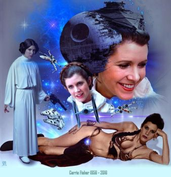 +++CARRIE FISHER+++ 1956 - 2016 by scifilicious