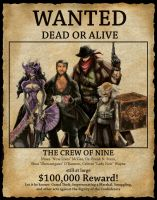 Wanted: The Crew of Nine by daxtee