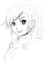 Golden Sun: Karis Sketch by 14Fourteenth