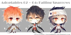 [CLOSED] Adoptables 62~64: Falling Sparrows by Staccatos