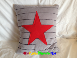 Marvel Pillows: Winter Soldier by AkaKiiroMidoriAoi