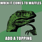 When it comes to waffles, add a topping by SlenderNight8PGS