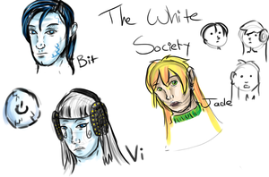 White Society Doodles by FeatheredSoap