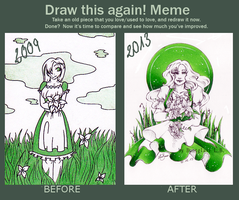 Draw this again-meme: 2009 and 2013 by Buntglas