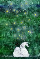 rabbits under the stars by Giolein