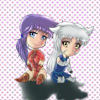 Alondra and Miriam sweeties by reptileye