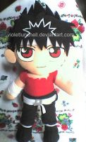 hiei plushie updated by VioletLunchell
