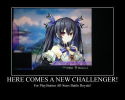 Noire for PlayStation All-Stars Battle Royale by PokeMarioFan14