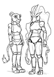 COMM Roboticized Nala and Suicune by ViralJP