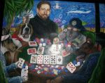 big dogs playing poker by animegher