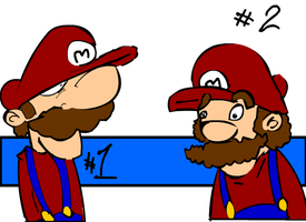 Two Marios by Gaarulf