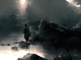 Calm Water Speedpainting by erenarik