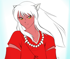 Inuyasha Colored by Kaze-yo