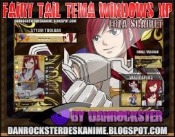 Erza Scarlet Theme Windows XP by Danrockster
