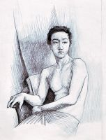 Sketch of Wu ZhengPing by Soirsce