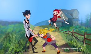 Training with Uncle Qrow by hcheung