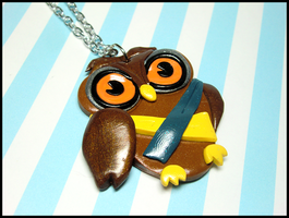 Owl Necklace by GrandmaThunderpants
