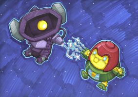 awesome space battle by prisonsuit-rabbitman
