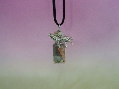 Black Wolf Forest Spirit Pendant by DaybreaksDawn