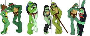 L'amour Des Valentins TMNT by Lily-pily